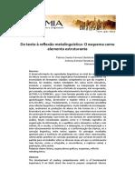 Eutomia 2019 - Do texto à reflexão metalinguística