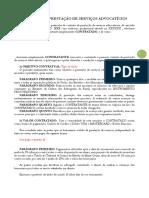 Modelo Contrato Honorarios Advocaticios
