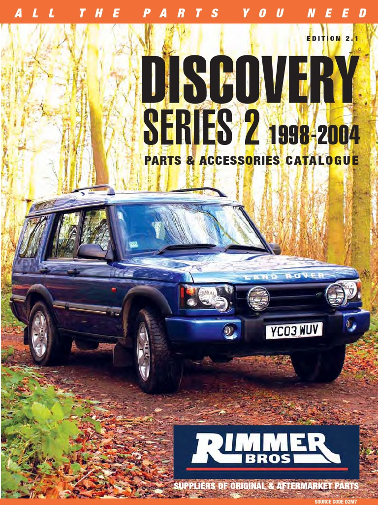 Land Rover Freelander Discovery 2 Rear window switch YUF000200LNF