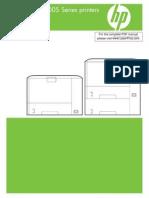 HP LJ P3005 Manual Toc