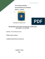Determinacion de La Acidez Del Vinagre y La Leche PDF