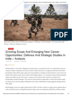 Growing Scope And Emerging New Career Opportunities_ Defence And Strategic Studies In India - Analysis - Eurasia Review