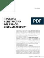 Tipología Constructiva Del Espacio Cinematográfico. Gorostiza, J.
