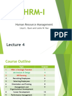 Job Analysis & Design HRM I