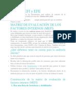 Matrices EFI y EFE