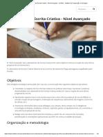Laboratório de Escrita Criativa - Nível Avançado - Camões
