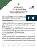 Edital Ufs Pedagogia 2019