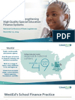 Designing and Strengthening High Quality Special Education Finance Systems