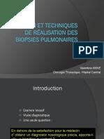 Indication Et Techniques de Réalisation Des Biopsies PulmonairesFILEminimizer