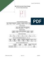 colume detile by etabs 16