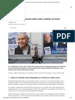 5 Coisas Que Você Precisa Saber Sobre a Eleição Em Israel - BBC News Brasil