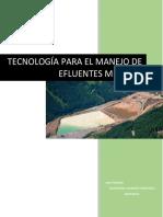 TECNOLogia Para El Manejo de Efluentes Mineros