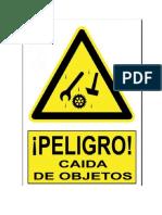 SEÑALIZACION CAIDA DE OBJETOS