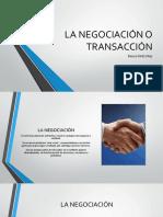 La negociacion o transaccion