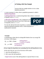 CH-8 HYPOTHESIS TESTING