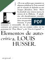 Althusser Louis - Elementos de Autocritica