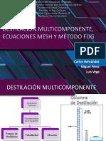 DESTILACIÓN MULTICOMPONENTE, ECUACIONES MESH Y MÉTODO FUG-1.pptx