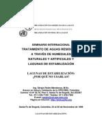 TRATAMIENTO DE AGUAS RESIDUALES A TRAVÉS DE HUMEDALES NATURALES Y ARTIFICIALES Y LAGUNAS DE ESTABILIZACIÓN