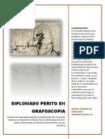Temario Diplomado Perito en Grafoscopia