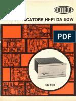Amtron UK190 - Amplificatore Hi-Fi da 50 W