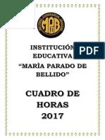 INFORME CUADRO DE HORAS