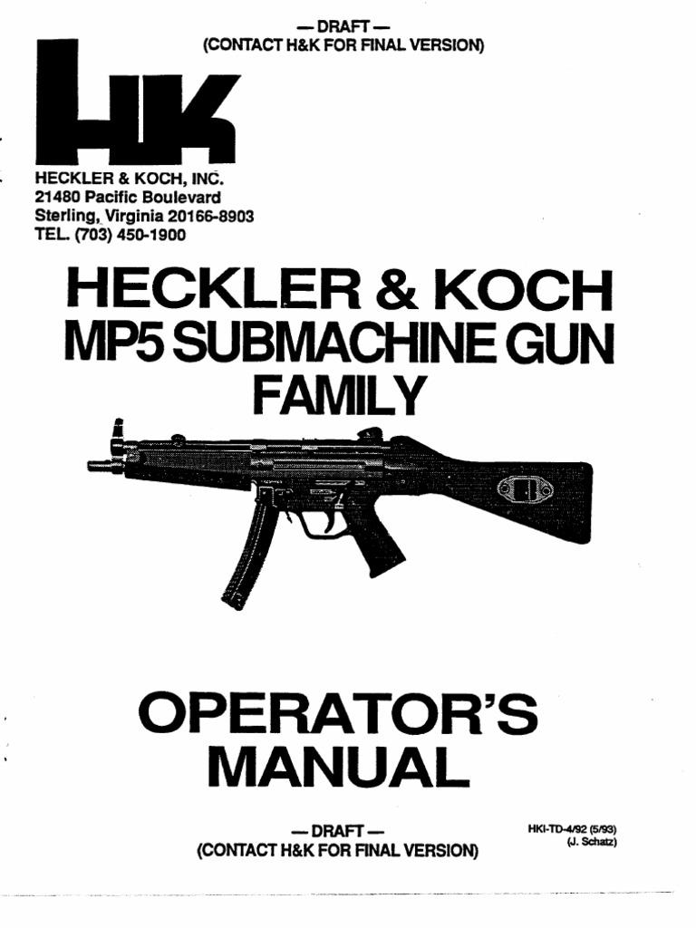HK MP5 manual