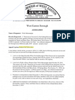 West Easton's war on Open Public Records Continue in this 38 page diatribe to OOR