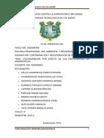 Contaminacion Por Fertilizantes en Andahuaylas