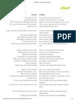 PERFECT - Ed Sheeran (Impressão)