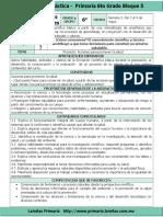 Plan 6to Grado - Bloque 5 Ciencias Naturales (2016-2017)