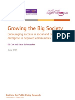 Growing the Big Society