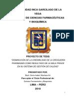 implementacion del sistema de calidad ISO 9001:2015