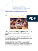 Informe Sobre La Comida en La Época Colonial