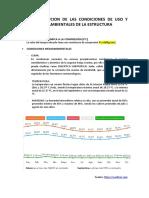 DESCRIPCION DE LAS CONDICIONES DE USO Y MEDIOAMBIENTALES DE LA ESTRUCTURA