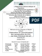 Elaboration et Caractérisation des nanopoudres de ZnO par Voie Chimique Sol-gel.pdf