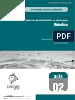 Unidade 1 - Hidrólise