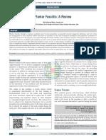 Plantar Fasciitis a Review