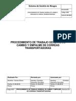 PROCEDIMIENTO DE TRABAJO GENERAL CAMBIO Y EMPALME DE CORREAS TRANSPORTADRAS.docx