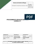 PROCEDIMIENTO REHACER EMPALME DE CORREAS TRANSPORTADRAS