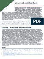 Conceptos y Caracteristicas de La Ciudadania Digital