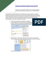 tata Cara Membuat Halaman Berbeda Dalam Satu File Di Microsoft Word