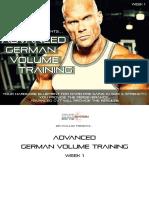 Advanced German Volume Training - Week 1