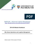 Module Handbook (MAR312SL) (2019-20)