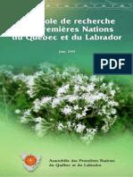 Protocole de recherche Premières Nations du Québec et du Labrador