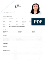 Workers Information Sheet