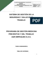 PROGRAMA DE MEDICINA PREVENTIVA Y DEL TRABAJO A&R