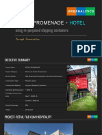 Modular Retail Promenade Concept 2018 by URBANALITICS