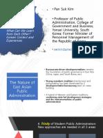 1 Pan Suk Kim - Transformation of Public Administration Across Asia Korean Context and Experiences