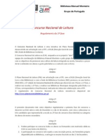 Concurso Nacional de Leitura. Regulamento ESAS 2010/11