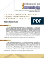 retos de la educacion en colombia